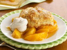 My favorite peach cobbler recipe! I swear by it... so good with vanilla bean ice cream! Yum!
