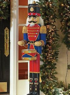 Perfect for your porch or entryway, the Nutcracker Drummer cheerfully welcomes guests into your home and helps you celebrate the Christmas season.
