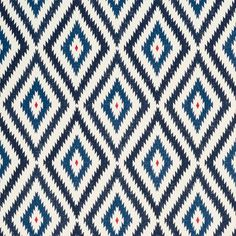 Little Aztec fabric from Bennison | Modern fabrics | Living room | Homes & Gardens | Housetohome.co.uk