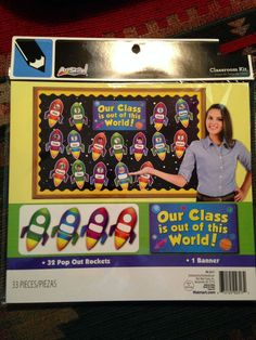 """OUR CLASS IS OUT OF THIS WORLD!"" Bulletin Board Kit :32 Rockets & 1Banner   On Auction: Starting at only $4.99....So come & check out these adorable rockets!"
