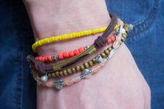 Beaded Boho Bracelet by VivaciousVariations on Etsy