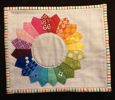 Free Dresden Mug Rug Pattern...Great idea for using different quilt block designs  l love on mug rugs.  These would look great on my dark table!!
