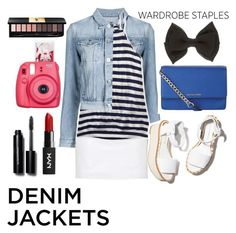 """""""Untitled #121"""" by donmarie10 ❤ liked on Polyvore featuring 3x1, Topshop, Aéropostale, Paloma Barceló, MICHAEL Michael Kors, Yves Saint Laurent, Bobbi Brown Cosmetics, Fujifilm, denimjackets and WardrobeStaples"""