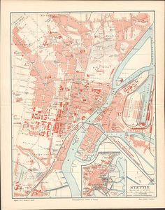 Items similar to Szczecin / Stettin Antique City Map from 1897 \\ Antique Lithograph Print \\ German, Vintage Illustration, Old maps on Etsy Old Maps, Antique Maps, Antique Prints, Vintage Prints, Printed Pages, Etsy Vintage, Vintage World Maps, Germany, Antiques