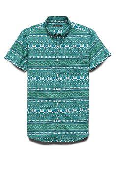 Reverse Tribal Print Shirt | 21 MEN #SummerForever #21Men