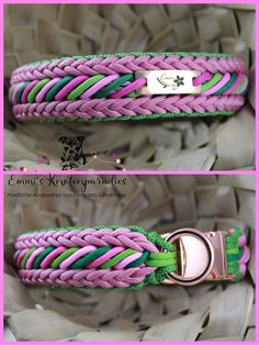 (notitle) - DIY and crafts - Ropa para Perros Cute Dog Collars, Diy Dog Collar, Paracord Braids, Paracord Bracelets, Small Dog Accessories, Paracord Tutorial, Pet Furniture, Bracelet Crafts, Crafts To Make And Sell