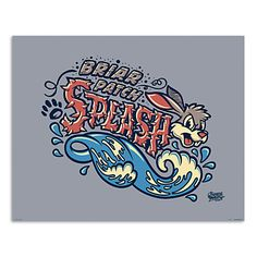 March Magic Poster - Briar Patch Splash - Disneyland - Limited Release $45.00