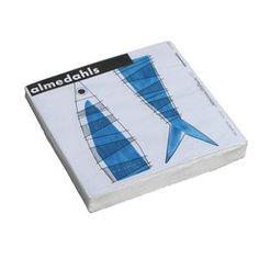 $6 Picknick paper napkins - blue - Almedahls