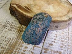 Handmade hammered copper pendant with patina by agatechristina, $4.00