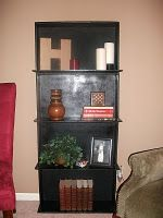 How clever...a bookcase made from old dresser drawers.