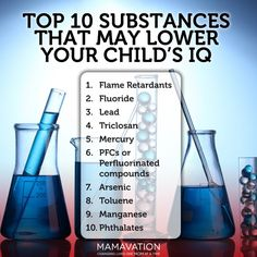 Substances that may lower your child's IQ