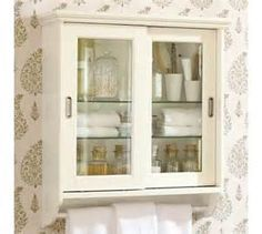 Bath - Sliding Door Wall Cabinet | Pottery Barn - sliding, door, wall ...