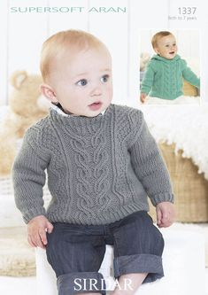 Jumper with cable detail with or without a hoodie in Sirdar Supersoft Aran - 1337. Discover more Patterns by Sirdar at LoveKnitting. We stock patterns, yarn, needles and books from all of your favorite brands.