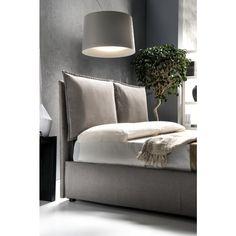 Letto matrimoniale contenitore in econabuk colore tortora - Letti - Camera Bedroom Furniture, Bedroom Decor, Headboard Designs, Headboards For Beds, Interiores Design, Bed Frame, Master Bedroom, House Design, Interiors