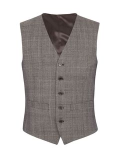 Mens Alexandre of England Wool Check Tailored Fit Waistcoat $70.00 AT vintagedancer.com