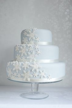 One of my Winter wedding cake designs