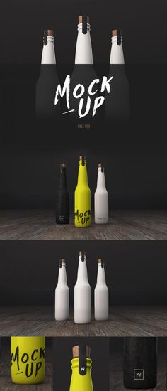 This mockup features customizable, opaque bottles. Copy and paste your artwork into the included Photoshop Smart Objects to quickly add your designs. Bottle Packaging, Bottle Mockup, Milk Packaging, Best Website Templates, Photoshop Design, Adobe Photoshop, Bottle Design, Packaging Design, Behance