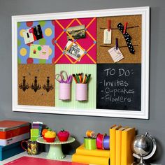 Stylish Organization, DIY Grid Bulletin Board System