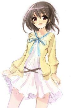Fujioka Misaki - Another - Mobile Wallpaper - Zerochan Anime Image Board Another Misaki, Another Anime, Manga Anime, Anime Art, Girl With Pigtails, Fanart, Drawing People, People Drawings, Mobile Wallpaper