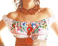 Mexican hand embroidered Tunic Dresses