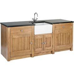 Orchard Oak 4 Door Sink Cabinet 2130x665x900mm - Sinks & Basins - Kitchens