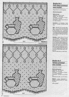 "Photo from album ""Рукоделие"" on Yandex. Filet Crochet, Crochet Motifs, Crochet Borders, Crochet Doilies, Crochet Chart, Crochet Lace, Crochet Patterns, Crochet Curtain Pattern, Crochet Curtains"