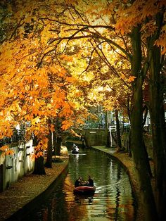 Autumn, Utrecht channel, The Netherlands.