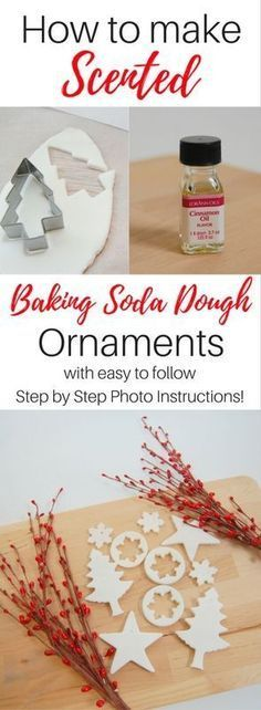 How to make Baking Soda Dough ornaments that you can scent with the fragrance of your choice!