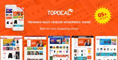 TopDeal is an eCommerce WordPress theme that is developed for the multipurpose online store, especially for multi-vendor or marketplace website.  ✅ Support multi-vendor plugins: Dokan, WC Vendors, WC Marketplace, WCFM MarketPlace ✅ 05+ homepages - a great choice for any kind of store or marketplace ✅ 2+ Mobile Layouts Ready like Mobile App  #magentech #wpthemego #wordpresstheme #themeforest #multivendor #marketplace #mobilelayout