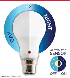 This automatic day/night lamp is a must-have for environmentally conscious home owners that want functional light when it is dark. Light Led, Light Bulb, Led Lighting Solutions, Energy Efficient Lighting, Night Lamps, Day For Night, Led Lamp, Outdoor Lighting, Dark