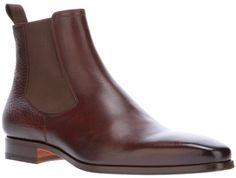 Santoni Brown Chelsea Boot for men Mens Fashion Shoes, Shoes Men, Men's Fashion, Dress Up Shoes, Gentleman Shoes, High Ankle Boots, Leather Chelsea Boots, Men's Boots, Clothes Horse