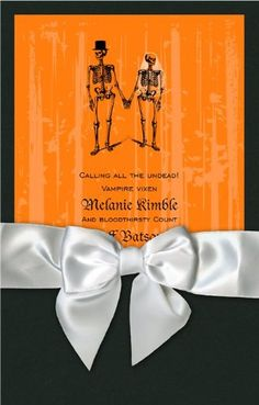 Having A Hallowedding? Best Halloween Wedding Invitations - InfoBarrel