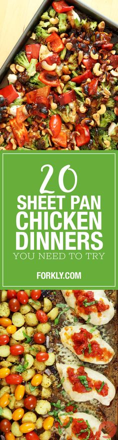 20 Sheet Pan Chicken Dinners You Need To Try: Quick, easy and minimal dishes. What more could you ask of dinner?