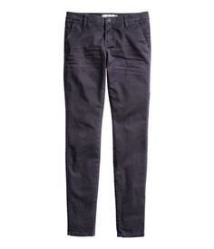 Chinos in washed stretch twill. Slim legs, side pockets, and back welt pockets. Product Detail | H&M US
