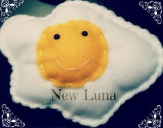 Sunny Side up Happy Egg Plush :)