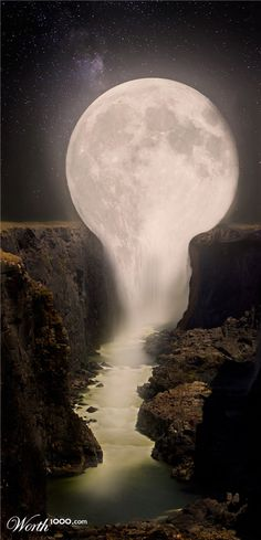 Moon Falls by IcyAll