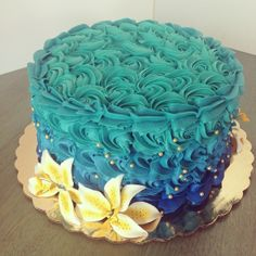 Ombre Rosette Cake by 2tarts Bakery / New Braunfels, Texas / www.2tarts.com