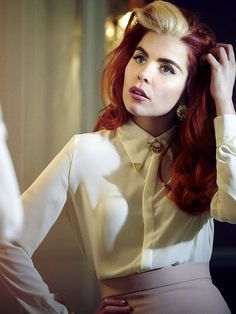 Blonde & Red Retro Styled Hair - This is what I've been trying to explain to everyone: this will be my hair.