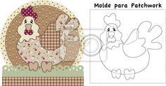Cuadro pollo con molde para patchwork • Posters y Cuadros sobre ...