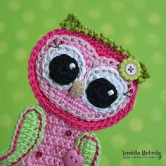 Crochet Baby owl applique  pattern DIY by VendulkaM on Etsy