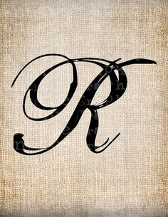 Letter R for Rawls with her silhouette