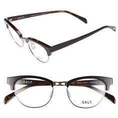 SALT 'Kris' 50mm Optical Glasses (1.565 BRL) ❤ liked on Polyvore featuring accessories, eyewear, eyeglasses, matte sapphire, cat-eye glasses, lightweight eyeglasses, cateye eyeglasses, cat eye eyeglasses and lens glasses