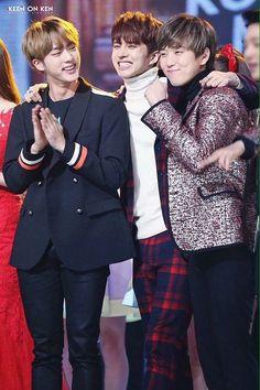 BTS Jin, VIXX Ken, B1A4 Sandeul