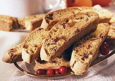 Cranberry Spice and Walnut Biscotti