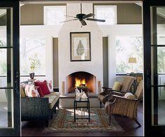 Sunroom with Fireplace