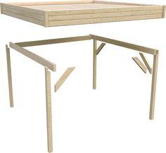 Pavillon KARIBU FLACHDACH - Holz-Pavillon Konstruktion