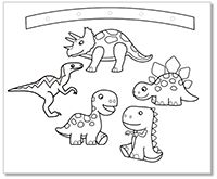 Coloring Page Dinosaurs Underwater