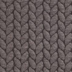 Tissu grosses mailles épis gris - 300 g/m2 - 19,99 €