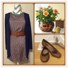 """☀️SALE☀️ Patterned dress Gently worn, this dress can take you from summer to fall with just a few changes. I'm 4'11"""" and it hits me right above the knee. It could also be a tunic for a taller person. Zouk: Dresses Mini"""