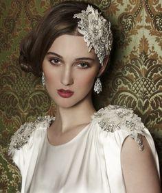 Lottie beaded dress & headpiece